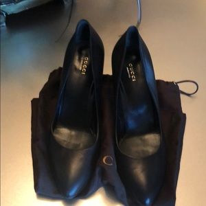 AUTH Gucci Black Pumps w/3 inch heel only